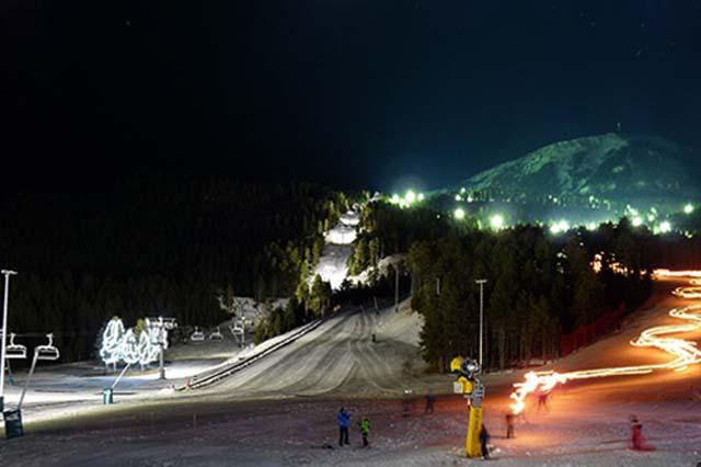 esquí nocturno Massella