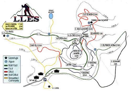 Estacion de esqui Lles de Cerdanya Mapa