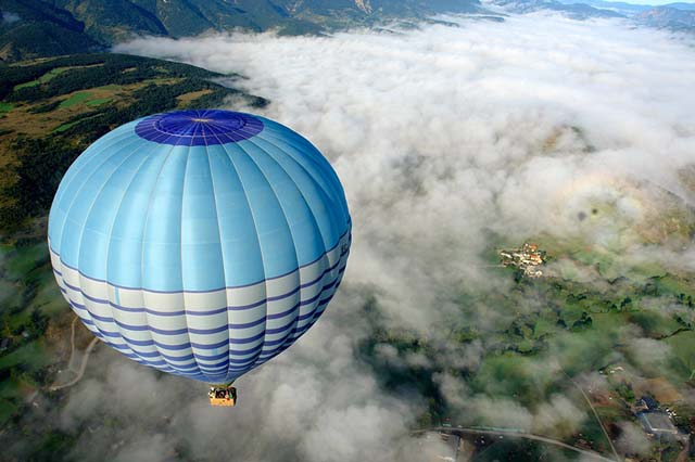vistas en globo en La Cerdanya