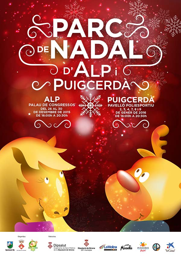 cartel navidad 2015 2016 puigcerda y alp